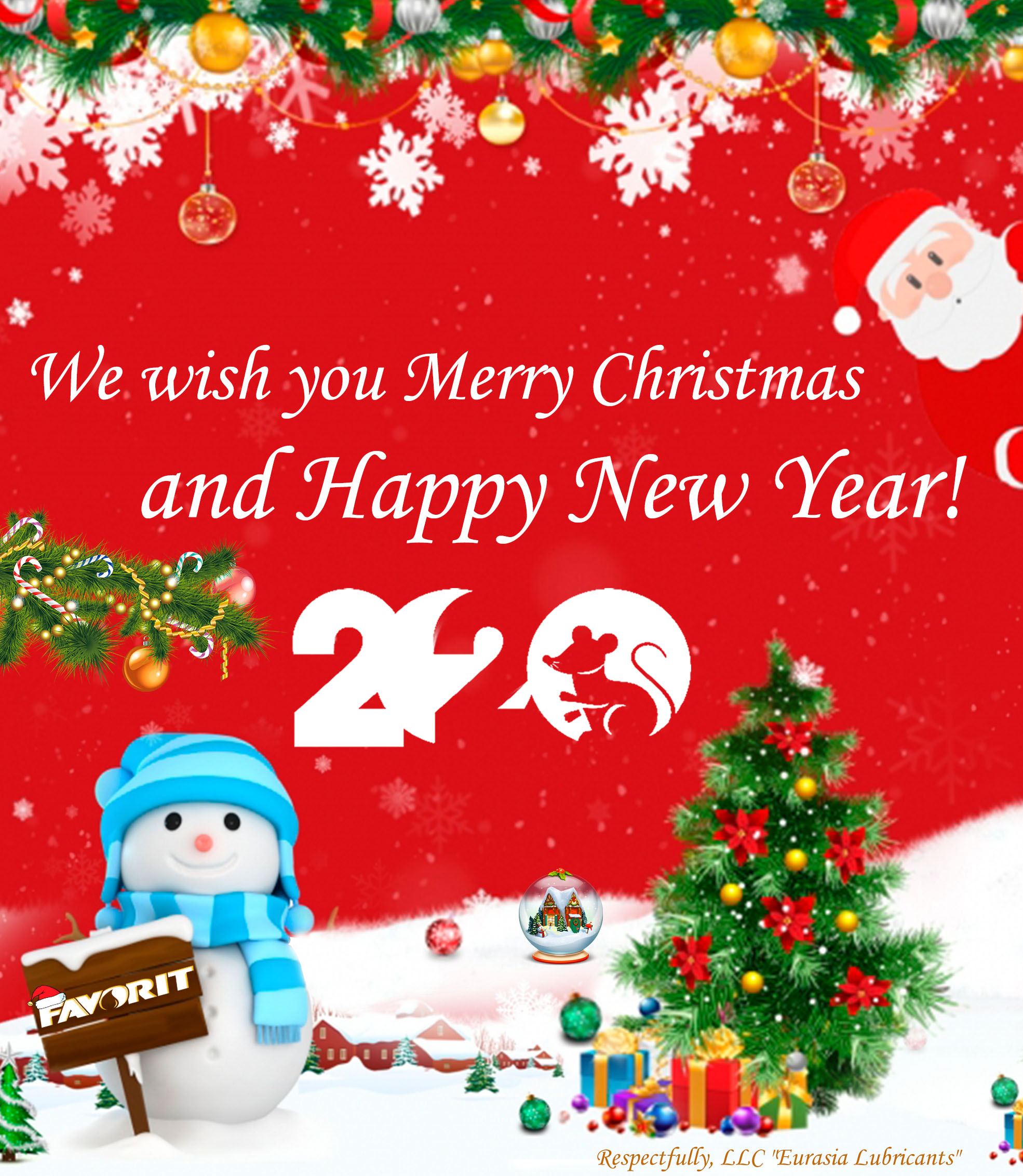 We wish you Merry Christmas and Happy New Year 2020!
